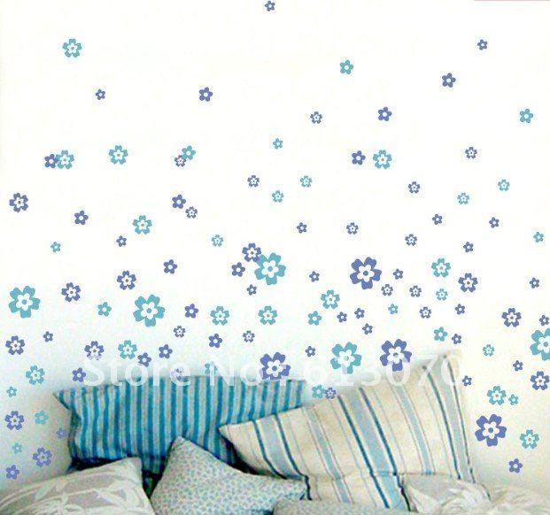 Adesivi floreali per decorare le pareti di casa ...