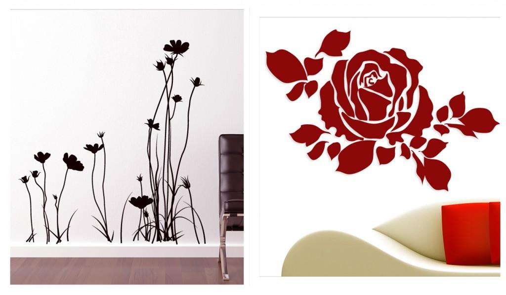 Adesivi floreali per decorare le pareti di casa - Decorazioni floreali per pareti ...