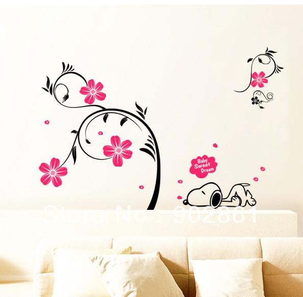 adesivi floreali per decorare le pareti di casa | milleideegreen - Come Abbellire Le Pareti Di Casa